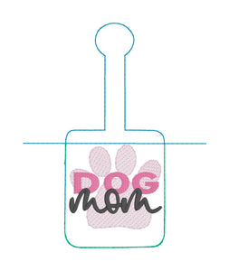 Dog Mom Doggie Bag Roll Holder Snap Tab Version In the Hoop Embroidery Project  for 5x7 hoops