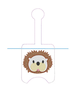 Hedgehog Sanitizer Holder Snap Tab Version In the Hoop Embroidery Project 1 oz BBW for 5x7 hoops