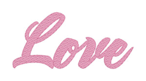 Love Sketch Word Art Embroidery Design