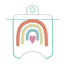 Rainbow Hand Sanitizer Holder Eyelet Version In the Hoop Embroidery Project  2 oz for 4x4 hoops