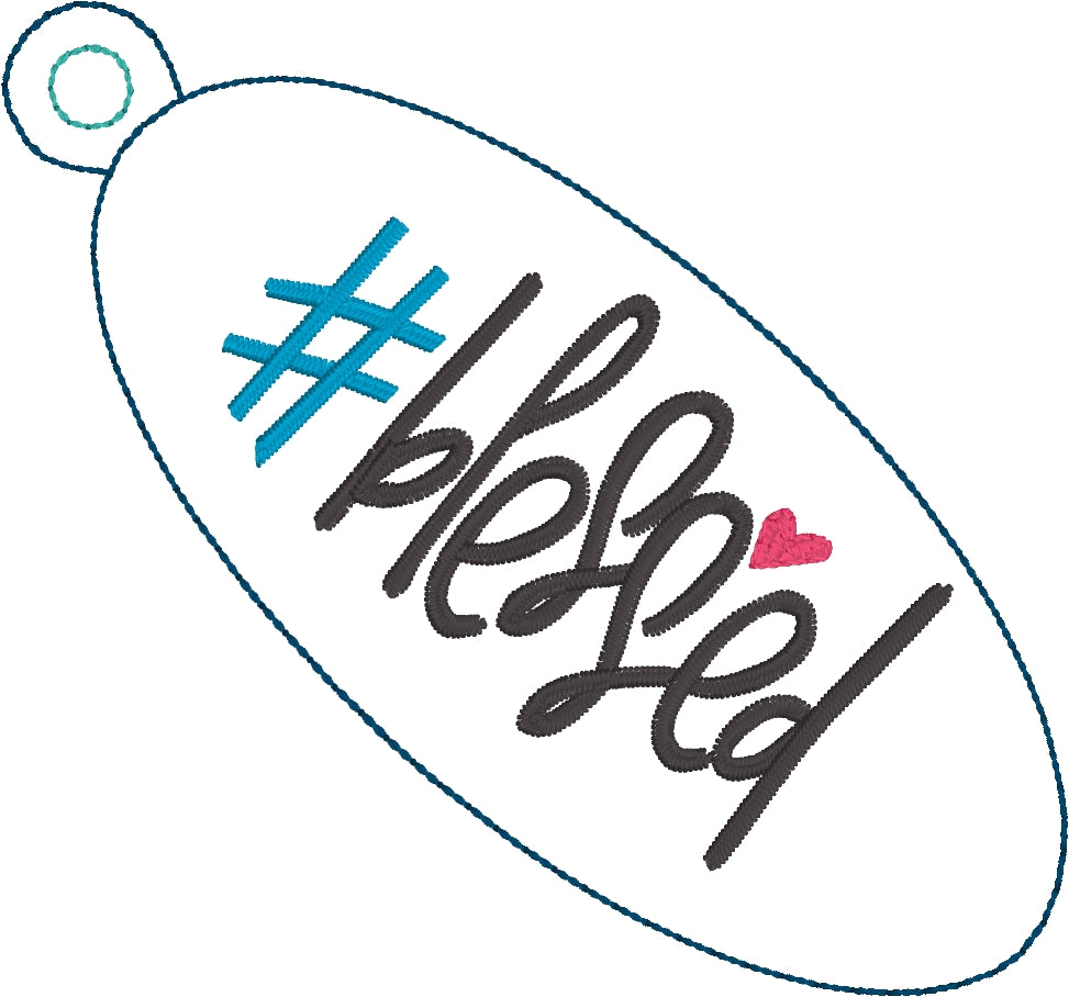 Hashtag Blessed Eyelet Tag - Designs By Babymoon