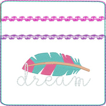 Dream Feather Zipper Pouch 4x4