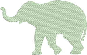 "Elephant Silhouette Embroidery Design - Three Sizes 1.5"" 2.25"" 3"""