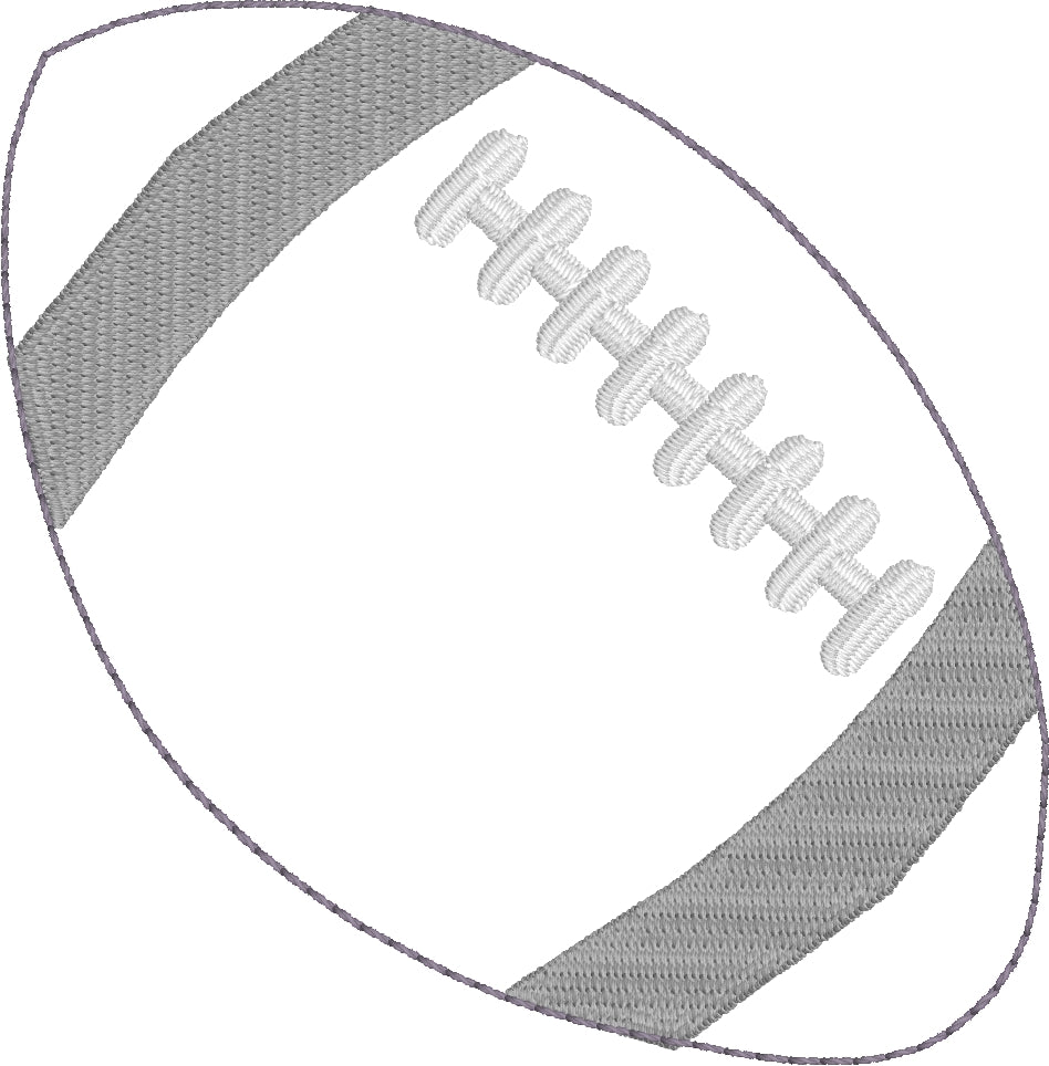 Football Feltie In the Hoop embroidery design
