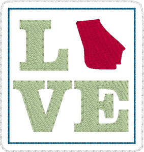 Georgia LOVE Feltie embroidery design