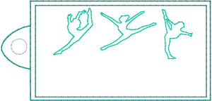 Gymnastics Snap Tab and Eyelet Tag Design