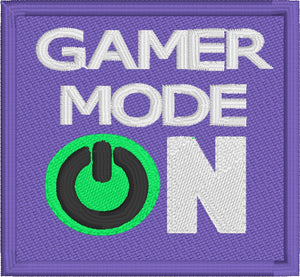 Gamer Mode ON Patch embroidery design
