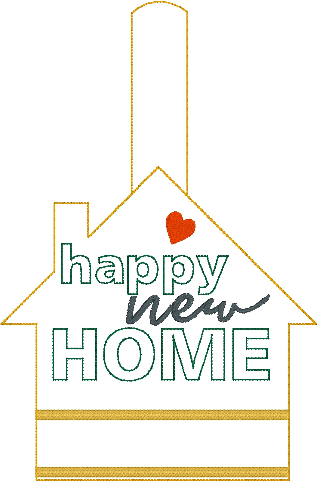 Happy New Home Snap Tab for 5x7 Hoops