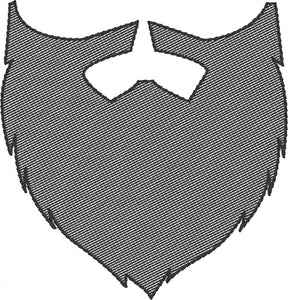 Hipster Beard and Mustache 4x4 Embroidery Design