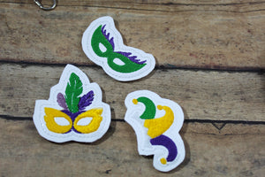 Mardi Gras Felties embroidery design