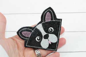 Boston Terrier Corner Bookmark Design
