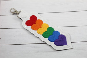 Rainbow Hearts Snap Tab Set