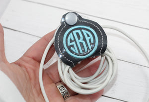 Monogram a Stay On Cord Wrap ITH Snap Project 4x4