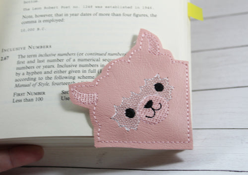Alpaca Corner Bookmark Design