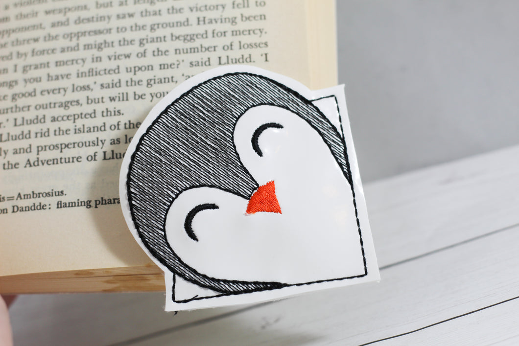 Penguin Corner Bookmark Design