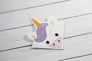 Unicorn Corner Bookmark Design