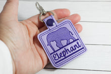 Elephant Silhouette Personalized Bag Tag for 4x4 hoops