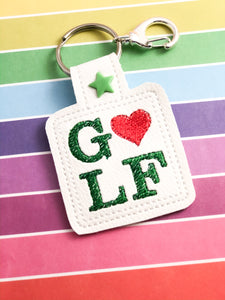 Golf Love Snap Tab 4x4 and 5x7