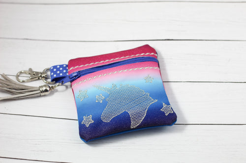 Unicorn Zipper Pouch 4x4