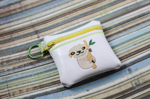 Sloth Zipper Pouch 4x4