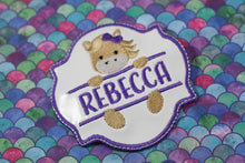 Horse Personalized Name Applique Patch