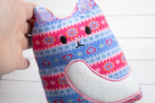 Kitty  Stuffy Stuffed Animal In the Hoop Embroidery Design