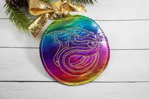 Dragon Swirl Christmas Ornament for 4x4 hoops