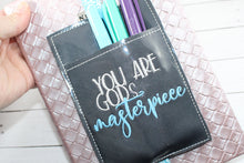 You are Gods Masterpiece Motivational Pen Pocket In The Hoop (ITH) Embroidery Design