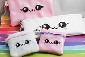 Sweet Happy Set of Zipper Bags 4x4, 5x7, 4x9 - Three Sizes for 4x4, 5x7 and 6x10 hoops