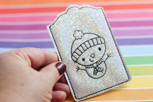Snowman Redwork Gift Card Holder - In the Hoop Project