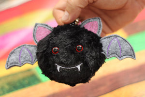 Bat Fluffy Puff - In the Hoop Embroidery Design