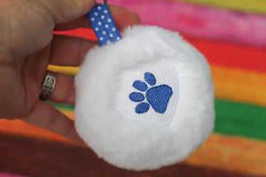 Paw Print Heart Fluffy Puff Design- In the Hoop Embroidery Design
