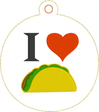 I Heart Tacos Christmas Ornament for 4x4 hoops