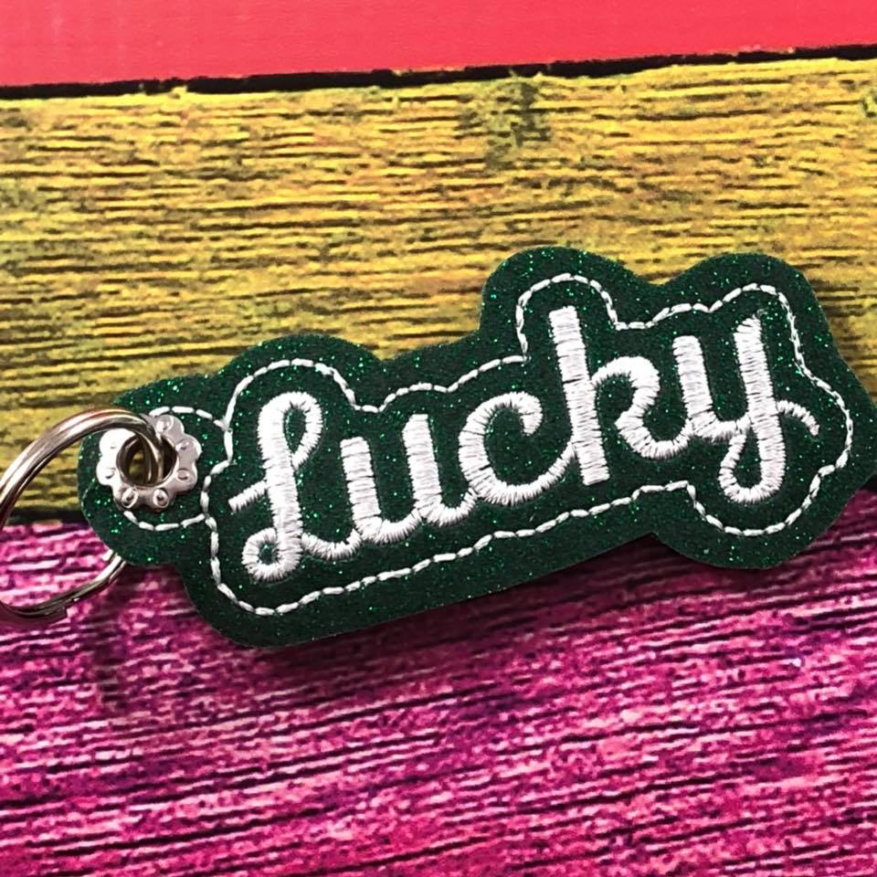 Lucky Charm Word Art Eyelet Tag