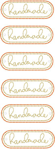 Handmade lettering Mini Patch embroidery design