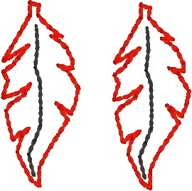 Mini Feather Earrings embroidery design