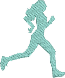 Mini Running Girl embroidery design