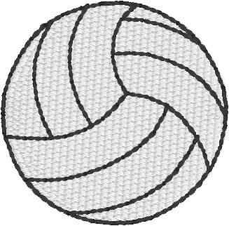 Mini Volleyball embroidery design