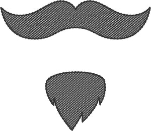 Monopoly Man Mustache 4x4 Embroidery Design