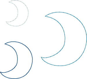 Moon Earrings and Pendant embroidery design for Vinyl and Leather