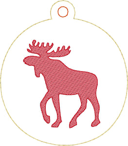 Moose Christmas Ornament for 4x4 hoops