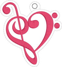 Music Love Christmas Ornament for 4x4 hoops