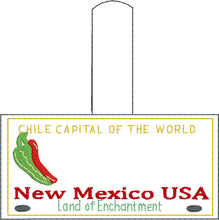 New Mexico Plate Embroidery Snap Tab