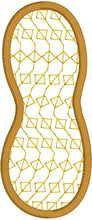 Peanut Applique Embroidery Design - 2 inch 3 inch and 4 inch sizes included