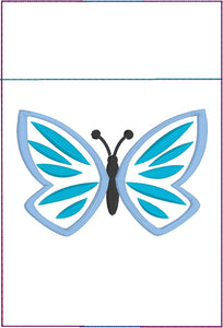 Primavera Butterfly Pen Pocket In The Hoop (ITH) Embroidery Design