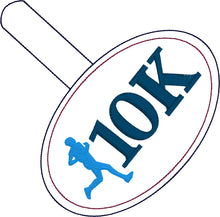 10K Running Boy snap tab - Backpack/Keyfob tag embroidery design