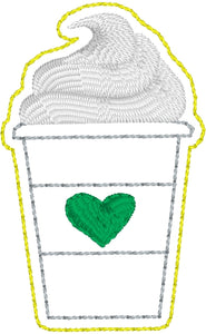 Coffee with Whip Feltie embroidery design