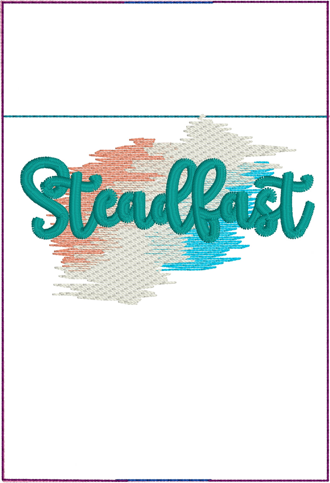 Steadfast Pen Pocket In The Hoop (ITH) Embroidery Design
