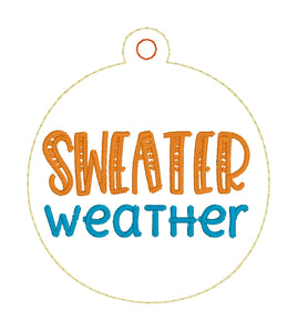 Sweater Weather Ornament Design - ITH project for 4x4 hoops