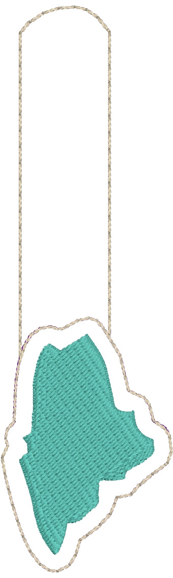 Tiny Maine snap tab In The Hoop embroidery design